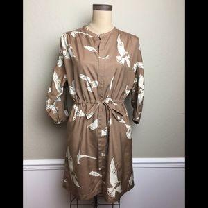 Anthropologie WHIT print dress